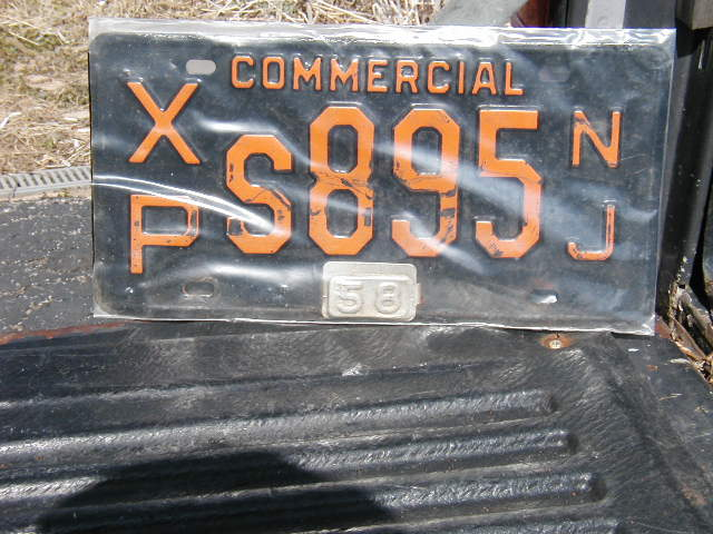 1958 New Jersey Plate