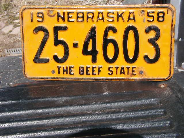 1958 Nebraska Plate